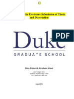 Electronic Thesis Diss Guide