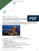 Como Montar Um Servidor FTP Em Windows