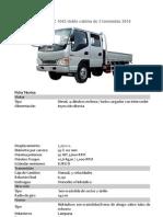 Camión JAC 1042 doble cabina de 3 toneladas 2014