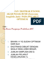 PPT Ekstraksi Pelarut Optimum