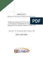 Revista Reflexus - Faculdade Unida