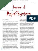 Beware of Aqua Shysters. Rakocy, James.