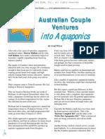 Australian Couple Ventures Into Aquaponics. Wilson, Geoff.