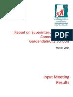 Gardendale Schools Superintendent Search Community Input