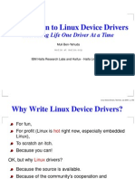 Intro Linux Device Drivers