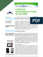 L'industrie électronique en Corée du Sud 2008