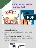 Lenguaje Verval, No Verbal y Para Verbal