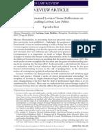 Judging Emmanuel Levinas Some Refections on Reading Levinas Law Politics