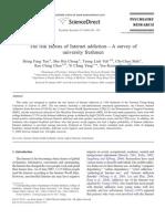 (Articulo en Ingles) (2009). El Riesgo Factores de Adicción a Internet. Una Encuesta Realizada a Estudiantes de Primer Año de La Universidad