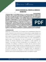 Las Uniones de Hecho Homosexual Frente Al Derecho Argentino