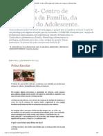 CRESCER- Centro de Psicologia Da Família, Da Criança e Do Adolescente