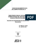 Directrices Para El Estudio de Competitividad Del Sector de La Acuicultura en Colombia