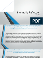 internship reflection