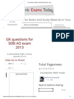 GK Questions for SEBI AO Exam 2013 _ Bank Exams Today
