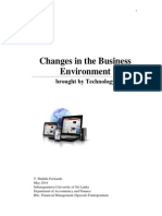 Changes in the Business Environment Brought by Technology