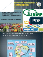 Investigación Hortícola en Ecuador