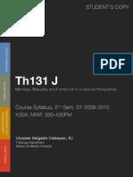 Revised TH131 Syllabus