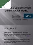Portable Usb Charger Using Solar Panel