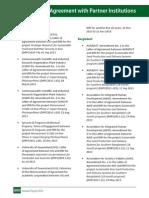 IRRI AR 2013 Memoranda of Agreement with Partner Institutions