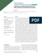 Seymour y Altermatt 2014 Conectividad Dendritica Interaccion Especies