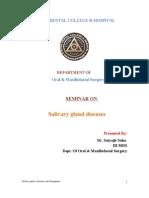Seminar 14 15 Salivary Gland Diseases / orthodontic courses by Indian dental academy