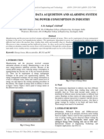 Real Time Energy Data Acquisition and Alarming System for Monitoring Power Consumption in Industry
