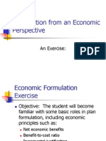 Module E2 - Economic Formulation Exercise