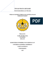 Makalah Hukum Kelembagaannegaraan (Peranan Komisi Yudisial Dalam Pengawasan Terhadap Hakim)