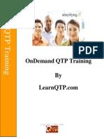 Qtp Training Doc