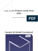 Pipe Stress Analysis Using Ansys APDL