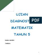 Ujian Diagnostik Matematik Tahun 5