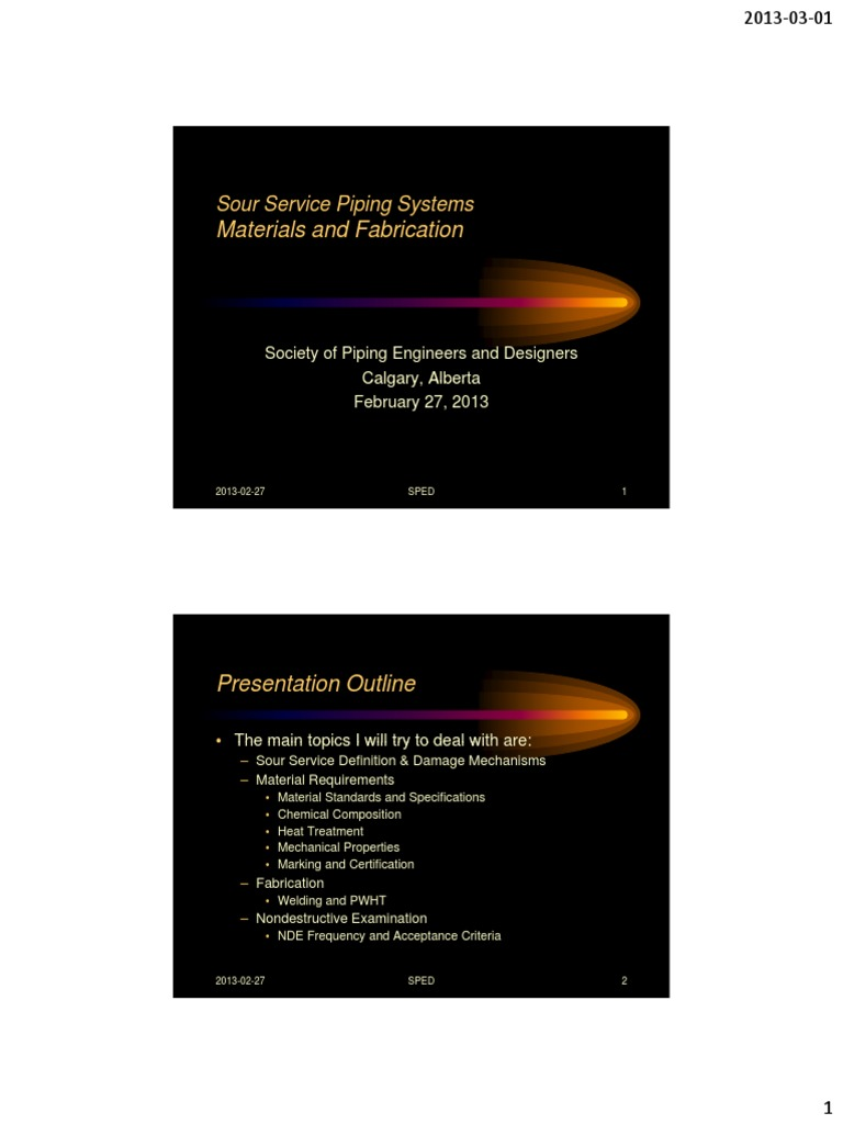 Sour service piping systems presentation baguley corrosion sour service piping systems presentation baguley corrosion pipe fluid conveyance xflitez Images