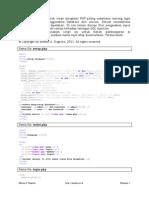 PHP Dan MySQL Sederhana Login Dengan Session