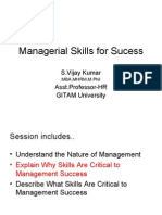 Managerial Skills for Sucess