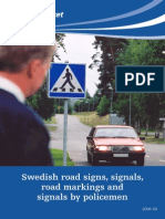 88102 Swedish Road Signs Signals Road Markings and Marking by Policemen