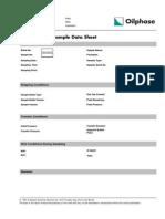 MDT Transfer Sample Data Form