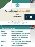 Format Silabus Kurikulum 2013