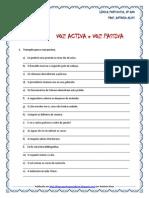 Voz Activa e Voz Passiva - Exercícios2 (Blog8 10-11)