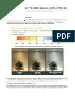 Lightingever.de-erkenntnisse Ber Farbtemperatur Und Lichtfarbe