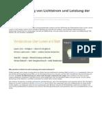 Lightingever.de-zusammenhang Von Lichtstrom Und Leistung Der Lampen
