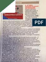 Segnalazione di GRAMSCIANA sulla Gazzetta di Modena