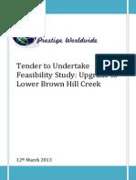 lower brown hill creek tender
