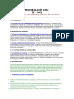 Microbiología Oral 2012
