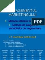 MM_Aplicatii_Metode utilizate in anchete + Metode de segmentare