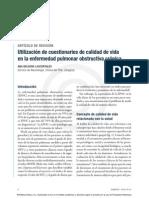Artículo de Revisión. Utilización de cuestionarios de calidad de vida en la enfermedad pulmonar obstructiva crónica. PubEPOC Núm 7.