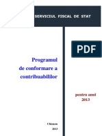 planul de conformare fiscala 2013