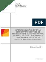 Informe de la CNMC sobre contadores digitales de abril de 2014