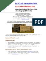 IIIT Delhi Admission