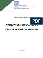 Especificações_tecnica_adequações Galpão de Transporte