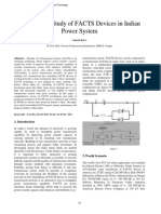 Application Study of FACTS Devices in Indian Power System